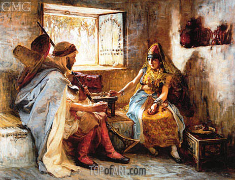 Frederick Arthur Bridgman | The Game of Chance, 1885