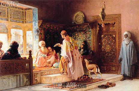 The Messenger, 1879 | Frederick Arthur Bridgman | Painting Reproduction
