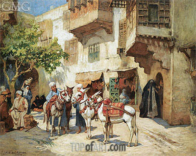 The Market Square, undated | Frederick Arthur Bridgman | Painting Reproduction