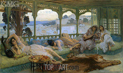 The Silence of the Night: Alger, b.1895 | Frederick Arthur Bridgman | Painting Reproduction