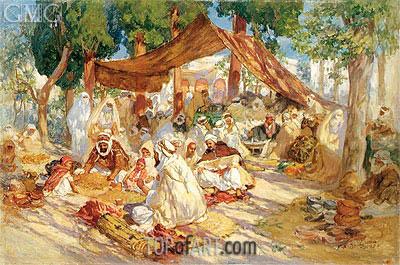 Frederick Arthur Bridgman | Market Scene, 1923