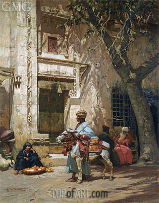 Outside the Mosque, undated | Frederick Arthur Bridgman | Painting Reproduction