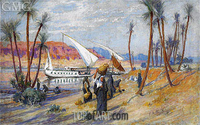 Water Carriers by the Nile, undated | Frederick Arthur Bridgman | Gemälde Reproduktion