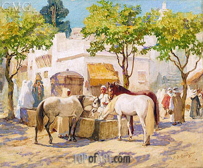 At the Fountain, Algiers, undated | Frederick Arthur Bridgman | Painting Reproduction