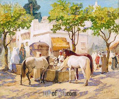 Frederick Arthur Bridgman | At the Fountain, Algiers, undated