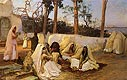 Women at the Cemetery, Algiers | Frederick Arthur Bridgman