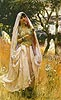 Moorish Girl, Algiers Countryside | Frederick Arthur Bridgman