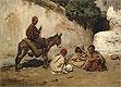 Arab Children Palying Cards   Frederick Arthur Bridgman
