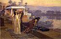 Cleopatra on the Terraces of Philae   Frederick Arthur Bridgman