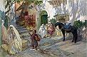 A Street Scene in Algeria | Frederick Arthur Bridgman