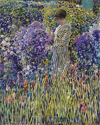 Frederick Frieseke | Lady in a Garden, c.1912