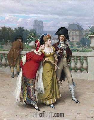 The Promenade,  | Frederick Hendrik Kaemmerer | Painting Reproduction
