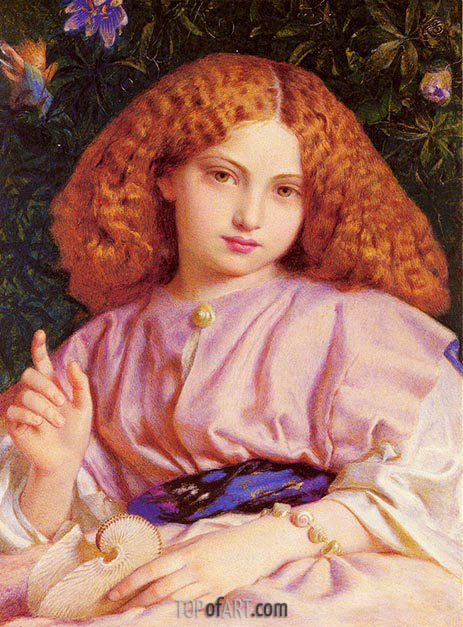 Frederick Burton | The Child Miranda, 1864