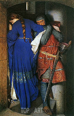 The Meeting on the Turret Stairs, 1864 | Frederick Burton| Gemälde Reproduktion