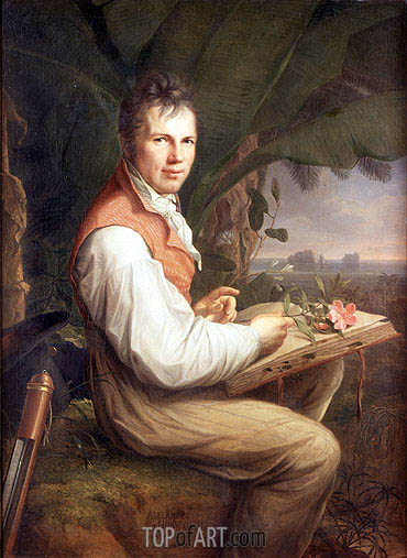 Portrait of Alexander von Humboldt, 1806 | Friedrich Georg Weitsch| Painting Reproduction