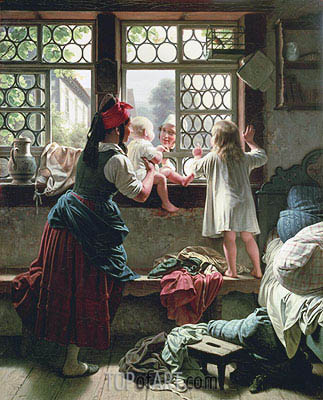Good Morning, Dear Father,  | Friedrich Meyerheim | Painting Reproduction
