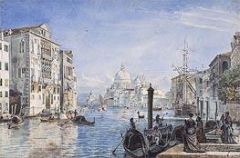 Venedig: Canal Grande mit Palazzo Cavallo-Franchetti, Santa Maria della Salute und Dogana del mar, c.1838/39 von Friedrich Nerly | Gemälde-Reproduktion