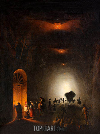 Friedrich Nerly | Tunnel in Possillipo, Naples, undated
