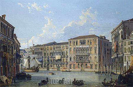 Friedrich Nerly | The Palazzo Foscari on the Grand Canal, Venice, undated