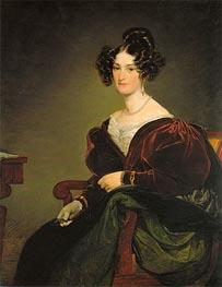 Amalie Klein, geb. von Henikstein, 1834 von Friedrich von Amerling   Gemälde-Reproduktion
