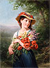 Girl with a Bouquet of Flowers | Fritz Zuber-Buhler