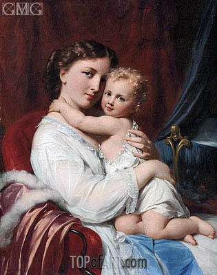 A Mother's Love, undated | Zuber-Buhler | Painting Reproduction
