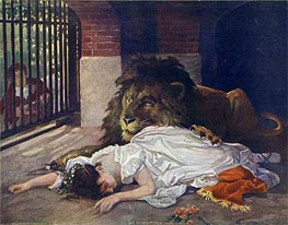 The Lion's Bride, undated von Gabriel Max | Gemälde-Reproduktion