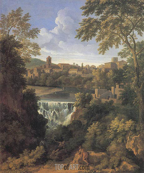 Gaspard Poussin Dughet | The Falls of Tivoli, c.1661