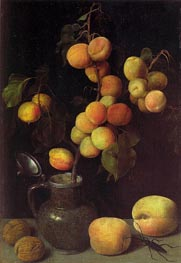 Apricot Branch, c.1630 von Georg Flegel | Gemälde-Reproduktion
