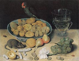 Dessert Still Life, undated by Georg Flegel | Painting Reproduction