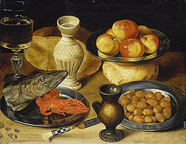 Meal with Pike Head | Georg Flegel | Painting Reproduction