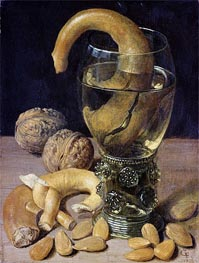Still life with Pretzels, Nuts and Almonds | Georg Flegel | Painting Reproduction