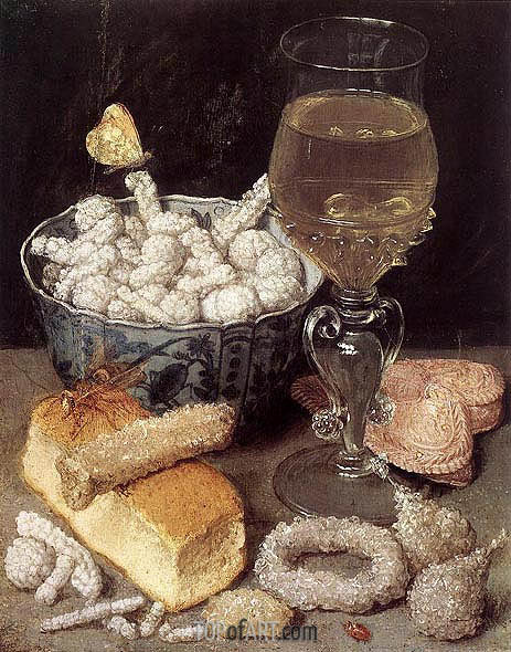 Still Life with Bread and Confectionery, undated | Georg Flegel | Painting Reproduction