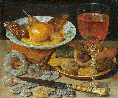 Meal with Fruit and Sweetmeats, undated | Georg Flegel| Painting Reproduction