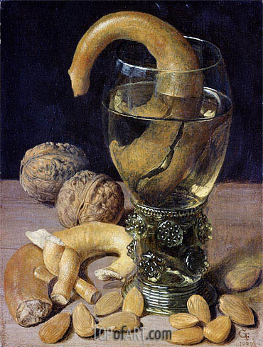 Georg Flegel   Still life with Pretzels, Nuts and Almonds, 1637