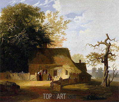 Cottage Scene, 1845 | George Caleb Bingham | Painting Reproduction