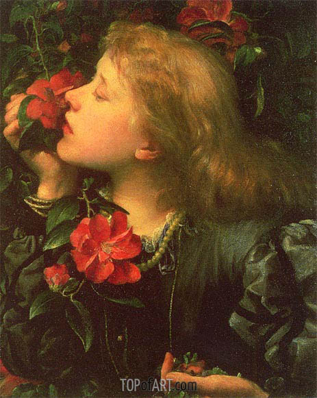 Dame Alice Ellen Terry (Choosing), c.1864 | Frederick Watts | Painting Reproduction