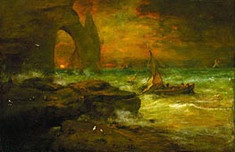 Sunset, Etretat | George Inness | outdated