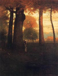 Sunset, Golden Glow | George Inness | outdated
