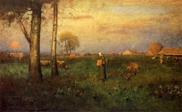 Sundown, 1894 von George Inness | Gemälde-Reproduktion