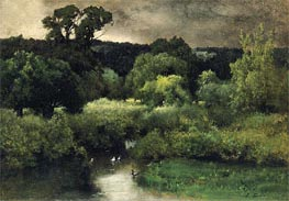 A Gray Lowery Day, 1877 by George Inness | Painting Reproduction