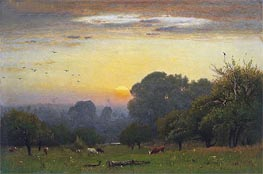 Morning, c.1878 by George Inness | Painting Reproduction