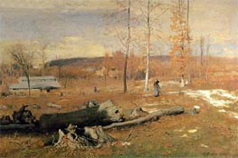 Winter Morning, Montclair, 1882 by George Inness | Painting Reproduction
