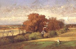 The Old Oak, Medfield, Massachusetts, 1875 by George Inness | Painting Reproduction