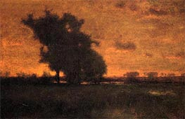 Sunset at Milton, 1885 von George Inness | Gemälde-Reproduktion