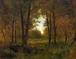 Sundown near Montclair, 1885 von George Inness | Gemälde-Reproduktion
