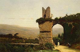 Commencement of the Galleria (Rome, the Appian Way | George Inness | Painting Reproduction