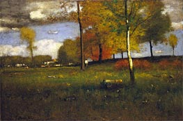 Near the Village, October | George Inness | Painting Reproduction