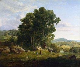 The Wood Chopper, 1849 by George Inness | Painting Reproduction