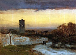 Monastery at Albano, c.1875 by George Inness | Painting Reproduction